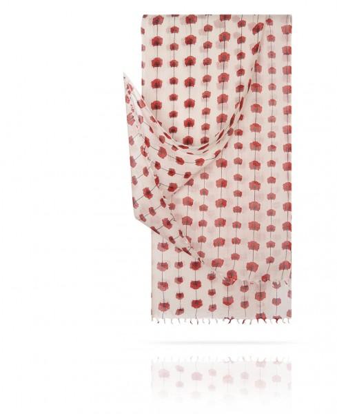Палантин из тончайшей шерсти Морфей в розовом W40.120-FL.PETITE/ROSE