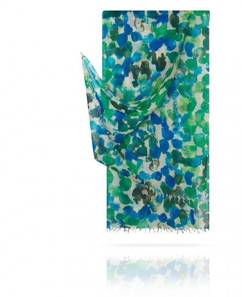 Палантин из тончайшей шерсти Сады Monet W40.120-LABITINTHE/EMER