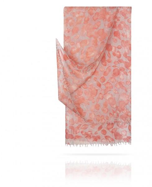 Палантин из тончайшей шерсти Мягкость Розового на Сером W40.120-PAIX/GRIS