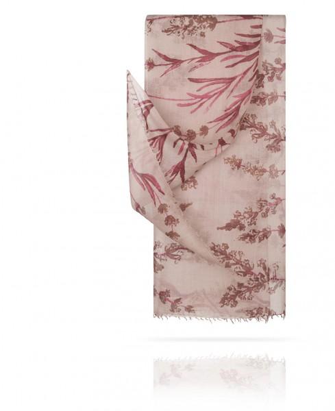 Палантин из тончайшей шерсти Рассыпанные цветы Нормандии W40.120-FL.MONTAGNE/LILAS