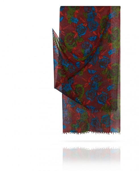 Палантин из тончайшей шерсти Эффектный шафран W40.120-ROSA.AMOUR/DUVIN